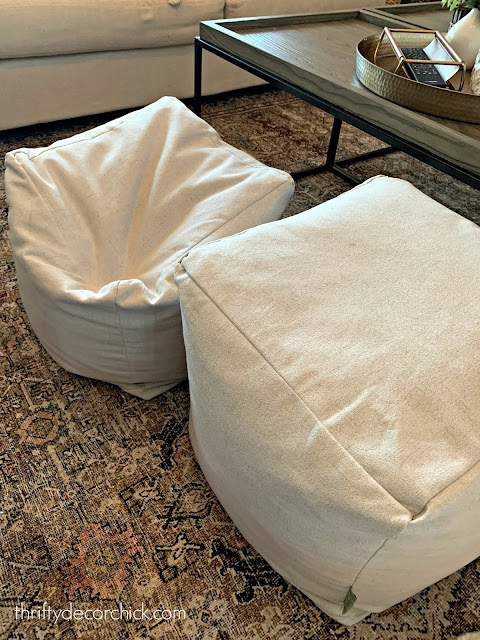 how to refill at pouf or ottoman with foam