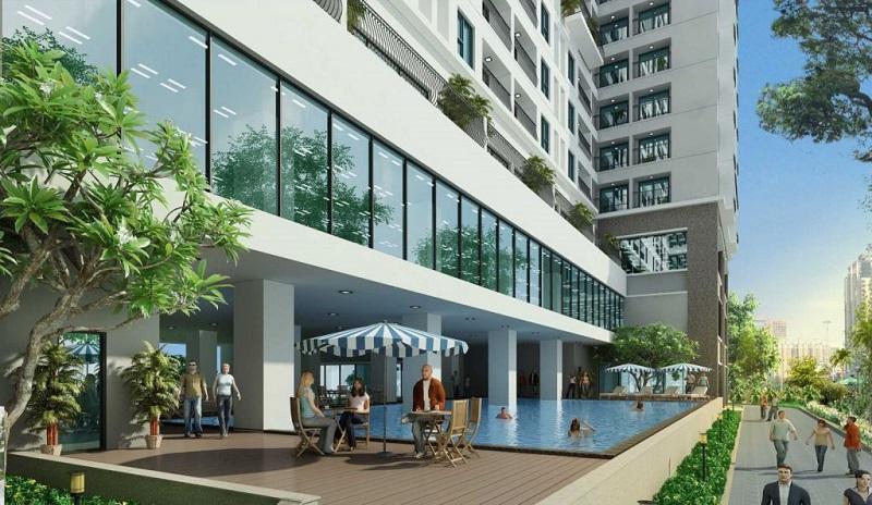 Không gian sống xanh tại Hà Sơn Tower