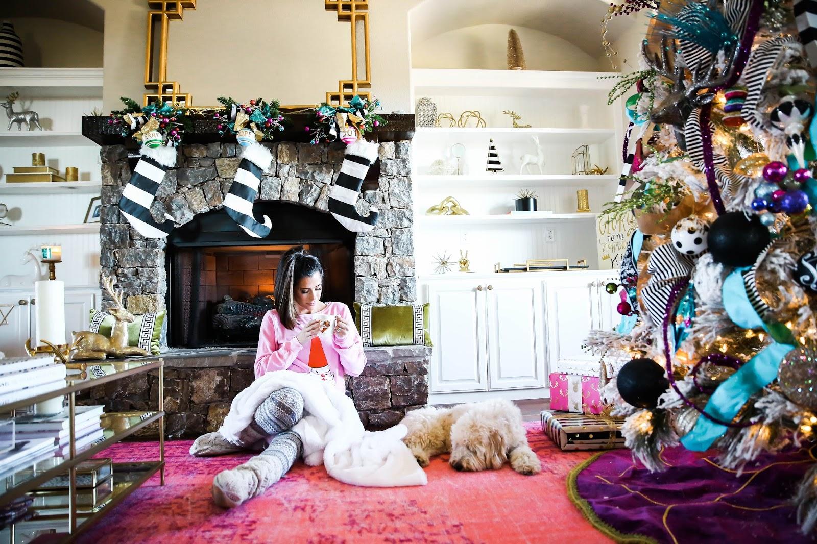 Our Whimsical Christmas Formal Living Area