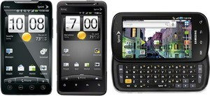Firmware updates for Sprint HTC EVO 4G, HTC Design 4G, Samsung Epic 4G