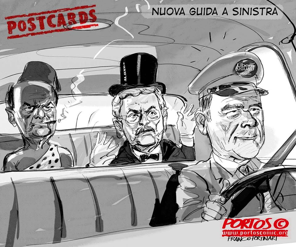 Risultati immagini per vignetta su Liberi e Uguali di grasso