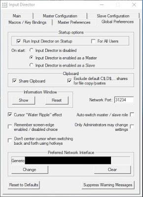 input director configuraciones globales