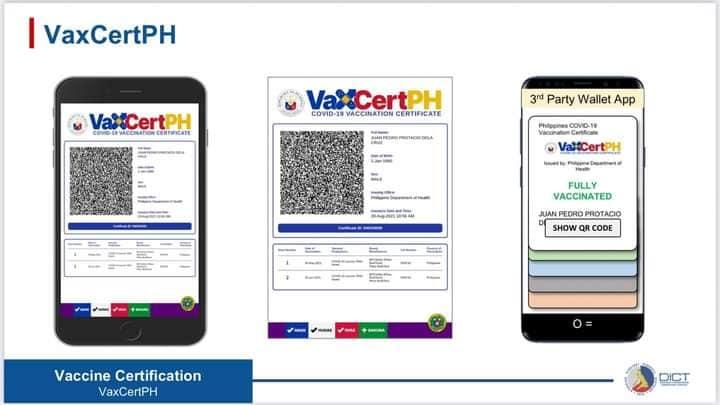 VaxCertPH digital vaccination card