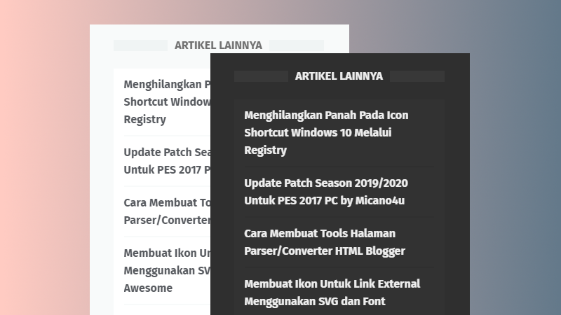 Membuat Random Post Template LinkMagz Support Dark Mode [Text Only]