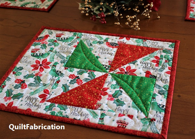 Pinwheel Placemats by QuiltFabrication