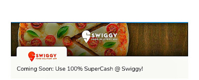 Grab Now Mobikwik Use 100% Supercash at Swiggy