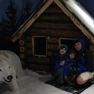 Wefie bareng keluarga di Snow Park