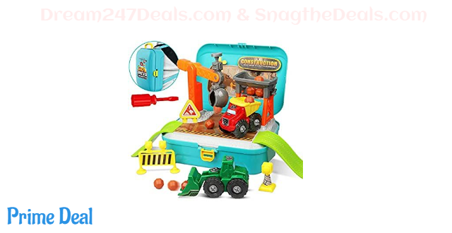 50% OFF 56 PCS Construction Building Trucks Toys Set