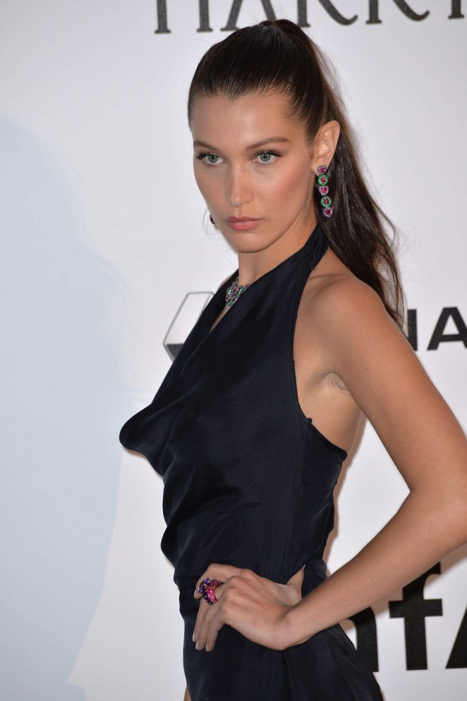 Bella Hadid wears chic Dior to the amfAR Gala in Cannes