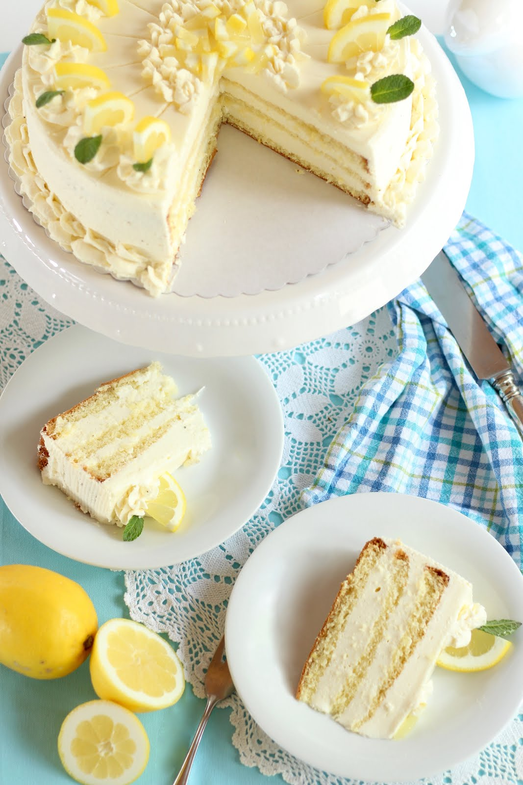 Zitronentorte mit köstlicher Buttermilch-Zitronensahnecreme/ Zitronen-Sahne-Traumtorte zu Ostern | Rezept und Video