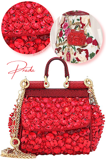 Dolce & Gabbana hot red micro Siciliy shoulder bag #brilliantluxury
