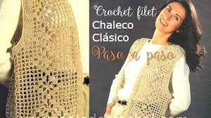 Cómo tejer chaleco clásico a crochet / Paso a paso