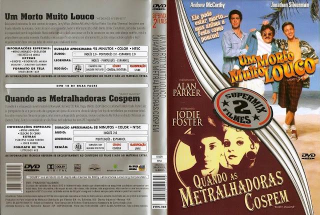 Capa DVD Um Morto Muito Louco / Quando As Metralhadoras Cospem