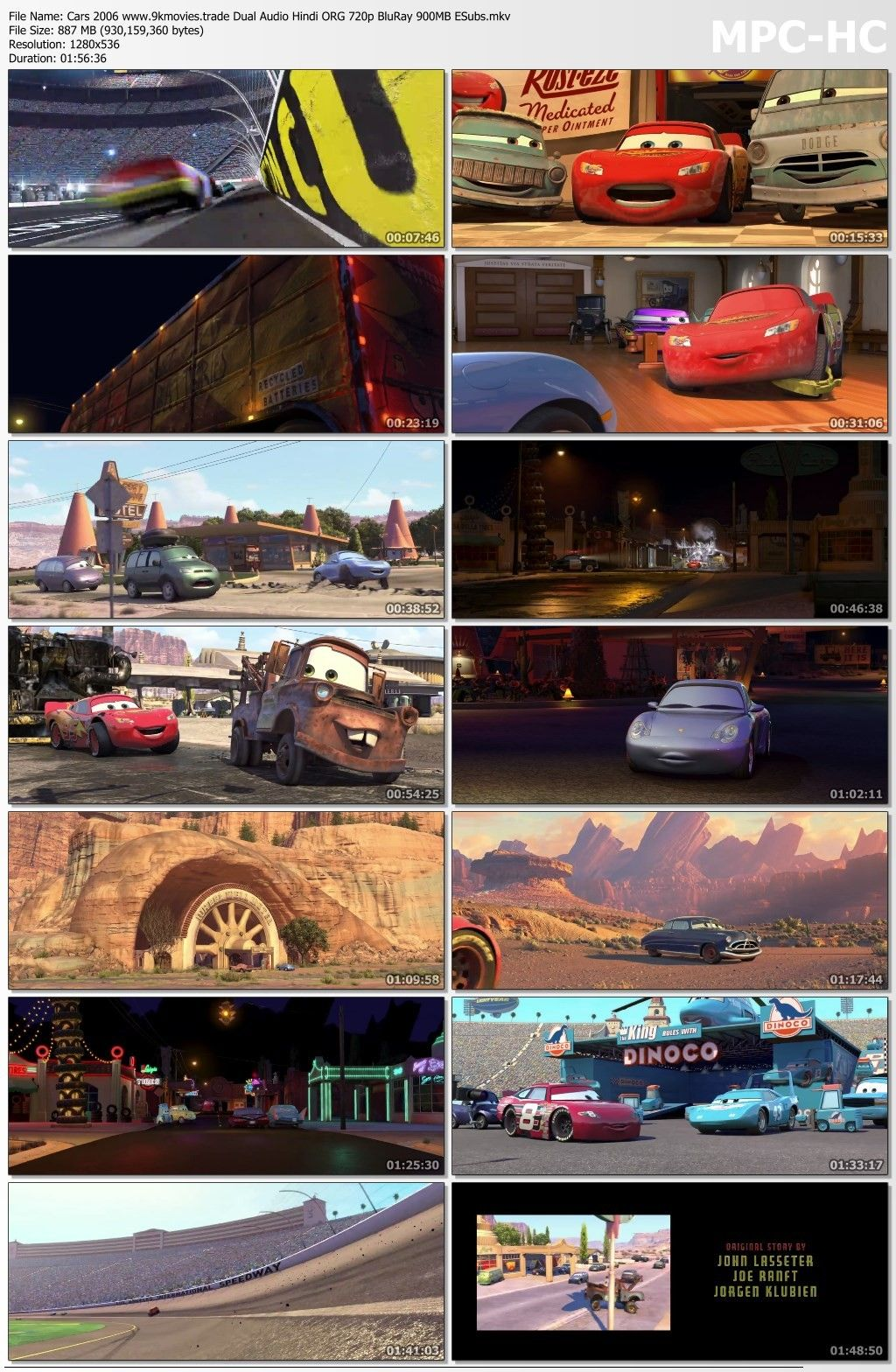 Cars 2006 Dual Audio Movie 720p Download