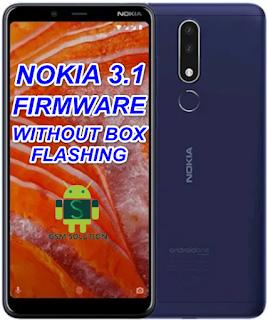 Nokia 3.1 TA-1049, TA-1057, TA-1063, TA-1070, TA-1074 Offical Stock ROM Firmware/Flash File Download