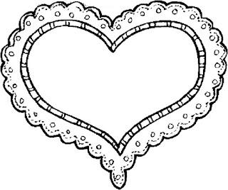 מסגרות לבבות לצביעה