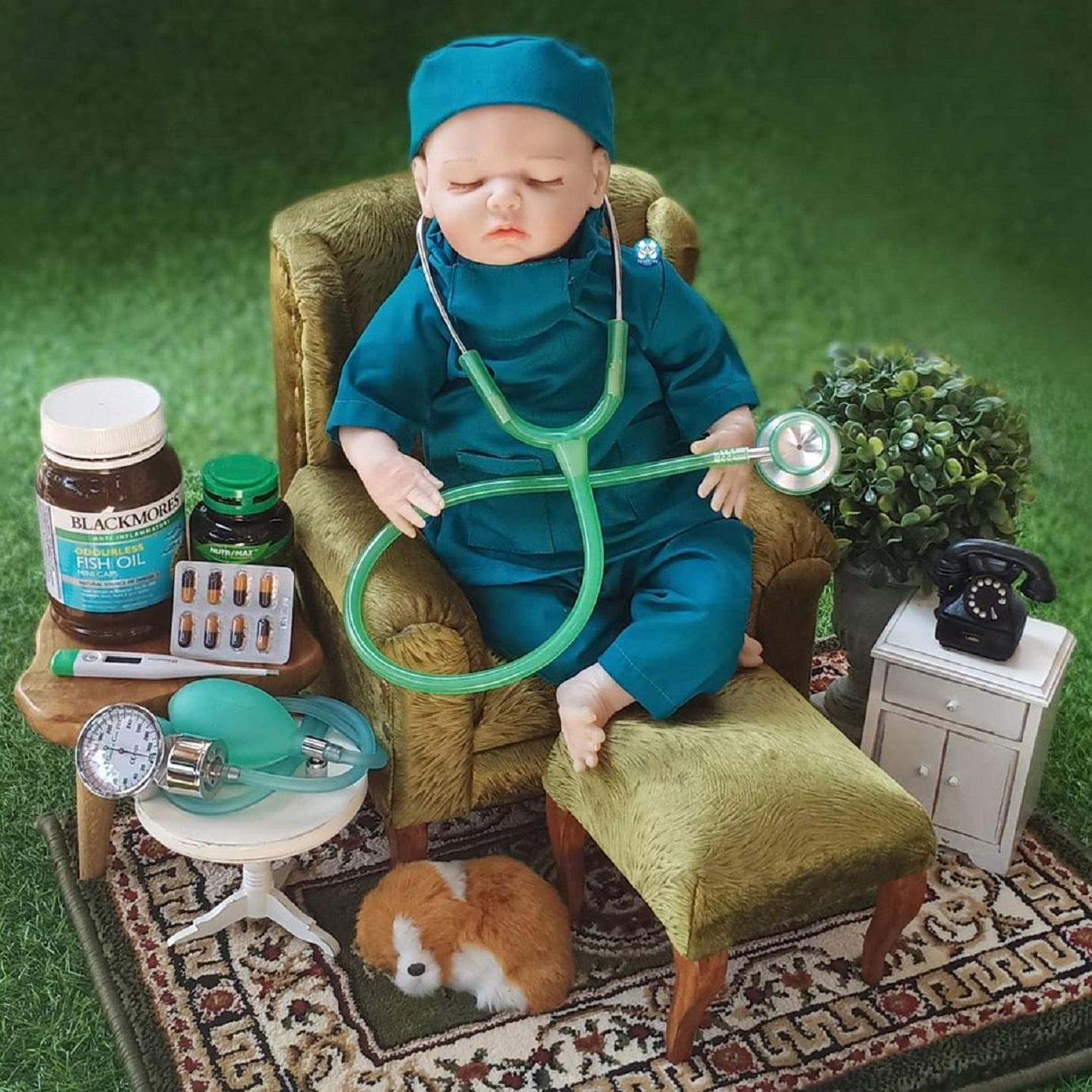 Properti Foto Bayi dengan Tema Cosplay Dokter Full Set ...