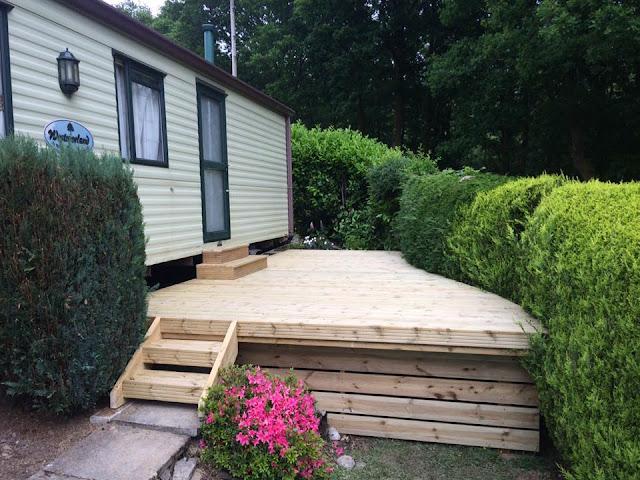 Caravan timber deck wales