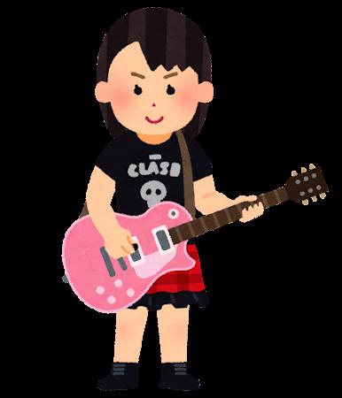 ロック少女・ギター少女のイラスト