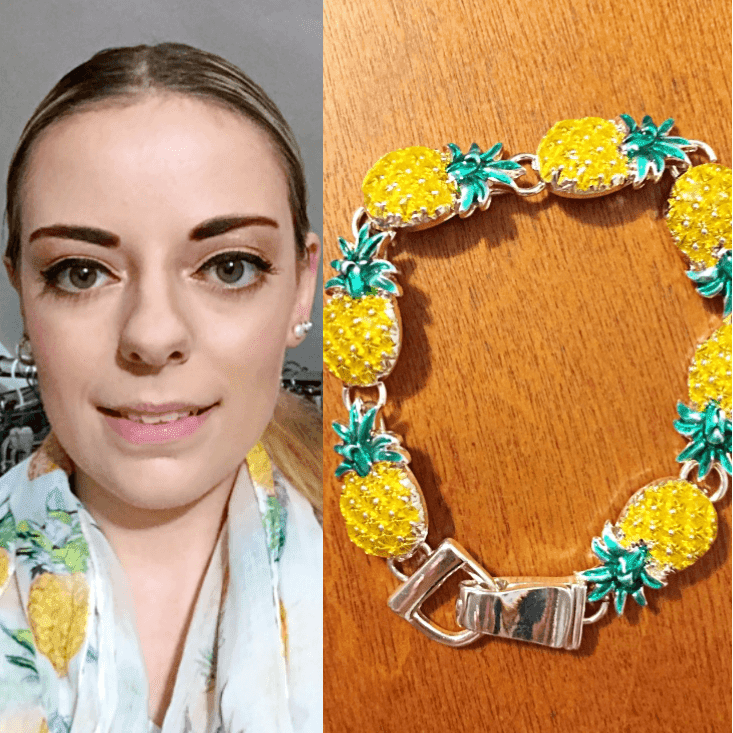 pineapple infinity scarf outfit of the day summer 2018