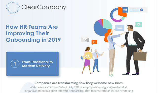 How do HR teams improve onboarding in 2019? #infographic