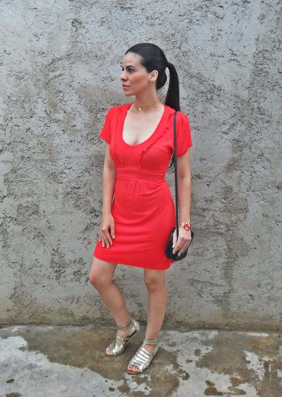 Vestido Rojo Yaimar Pérez