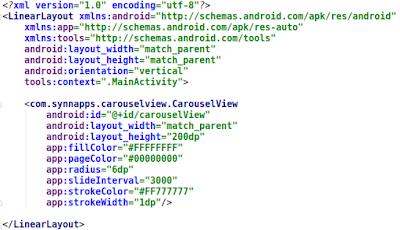 android activity xml image slider