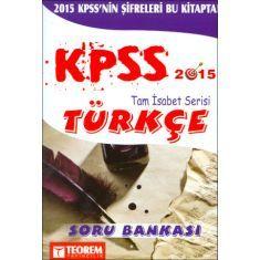 Teorem KPSS Türkçe Soru Bankası (2016)