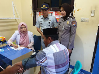 Satlantas Polres Luwu, Gelar Pemeriksaan Kesehatan dalam Rangka HUT Polantas Bhayangkara 64