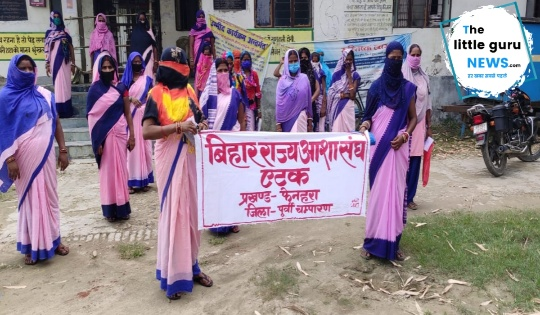 Asha workers strike