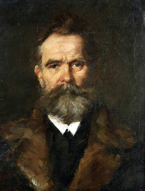 Vaclav Brozik, Self Portrait, Portraits of Painters, Fine arts, Portraits of painters blog, Paintings of Vaclav Brozik, Painter Vaclav Brozik