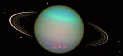 Imagen del planeta urano a colores