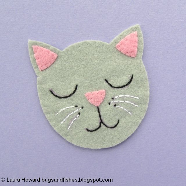 embroider the cat's whiskers