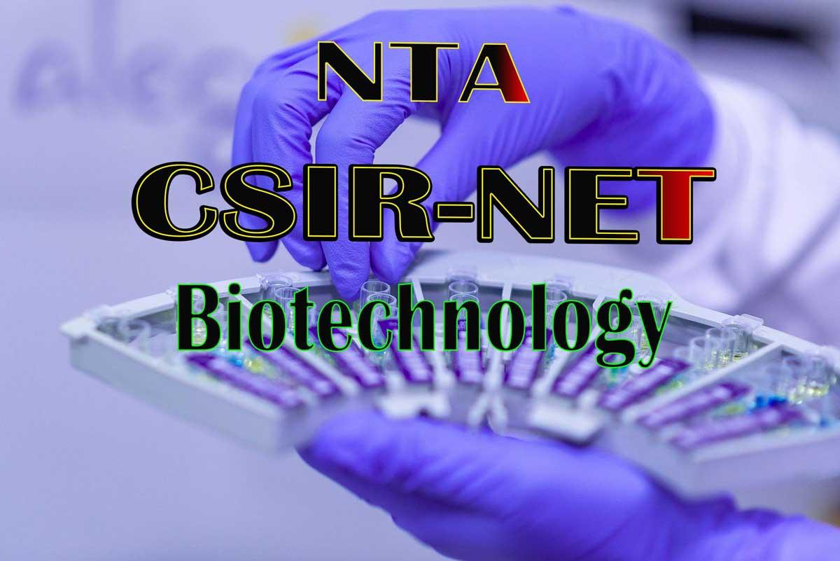 csir net biotechnology