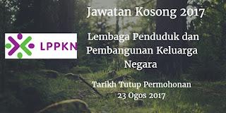 Jawatan Kosong LPPKN 23 Ogos 2017