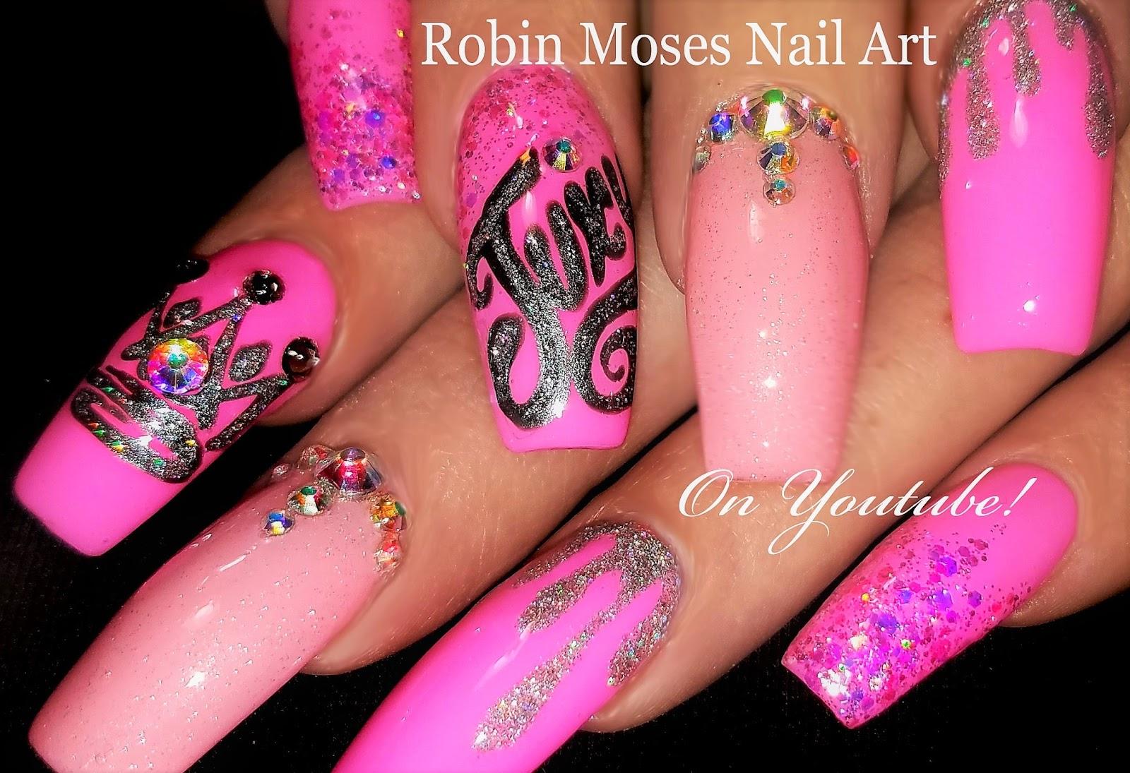 Nail Art By Robin Moses Spring Floral Diva Nails 2018 Amazing