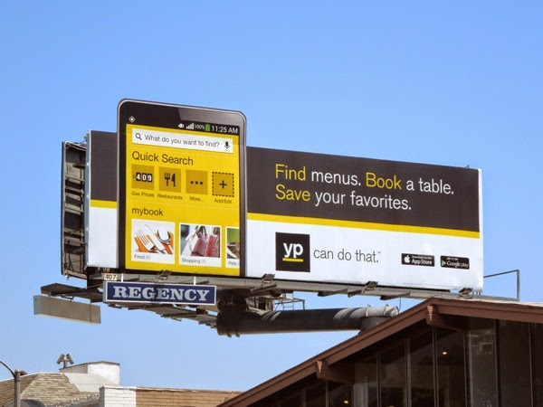 Yellow Pages Book a table billboard