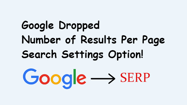 Google Dropped Number of Results Per Page Search Settings Option
