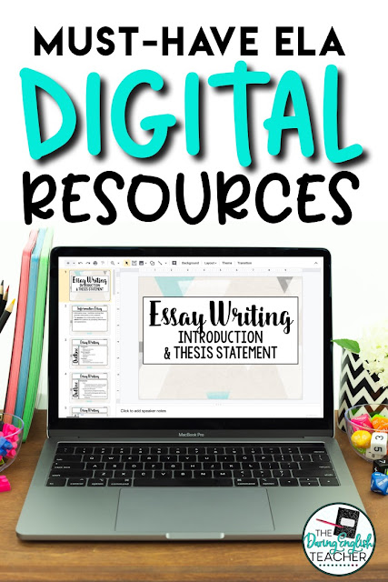 DIgital teaching writing unit for middle school ELA and high school English