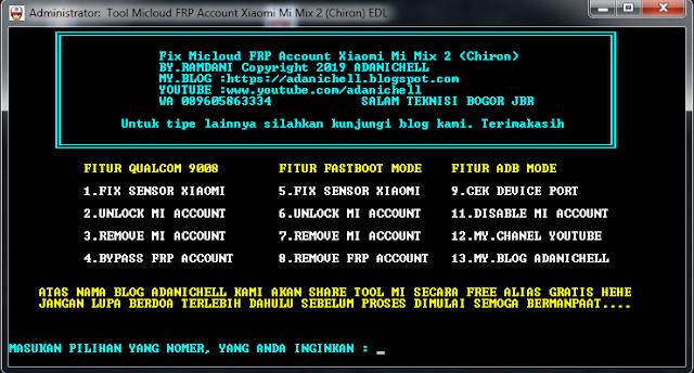 Fix Micloud FRP Account Xiaomi Mi Mix 2 (Chiron)