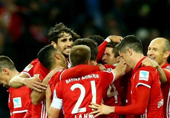 Bayern có chiến thắng áp đảo trước Hertha Berlin.