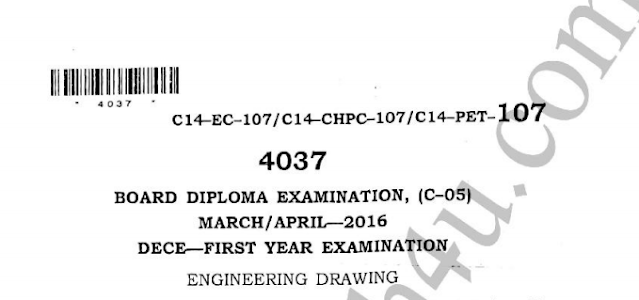 Diploma engineering drawing old question papers c14 electrical march april 2016