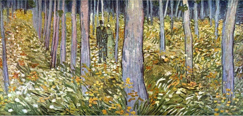 Αποτέλεσμα εικόνας για V. Van Gogh, Δύο μορφές στο δάσος.1890