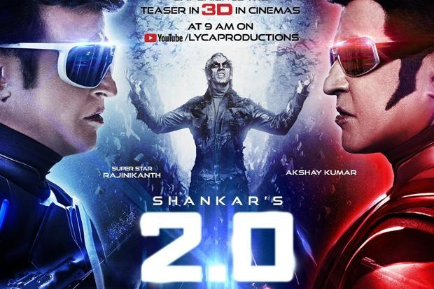 Rajinikanth, Amy Jackson and Akshay Kumar 2018 Movie 2.0 is collect 623 crore (US$87 million) Worldwide and it budget (Cost) 543 Crores.