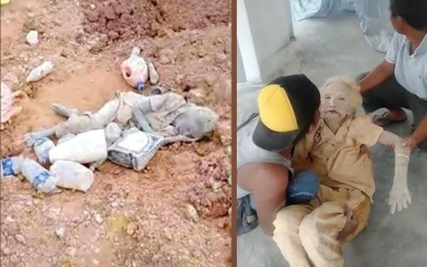 Viral Video Nenek Terkubur Lumpur 3 Hari Masih Hidup