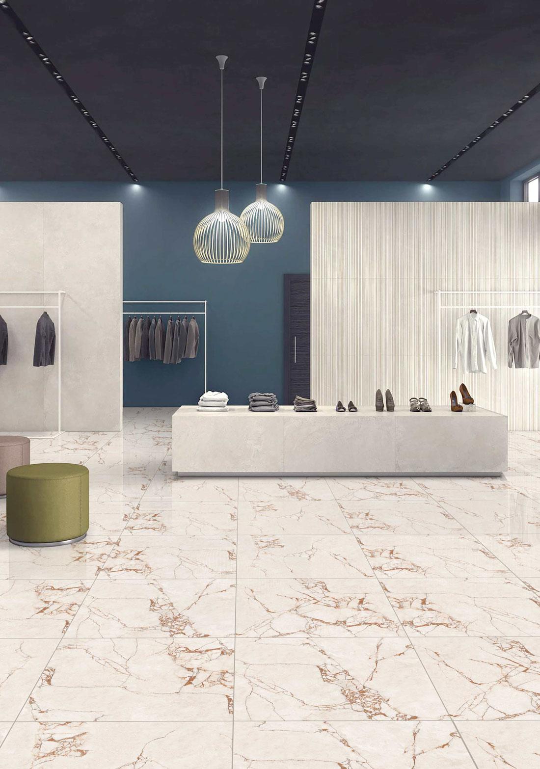 Calacatta glazed porcelain tile