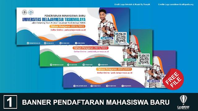 Free Spanduk : Download Kumpulan Banner Pendaftaran Mahasiswa Coreldraw Baru
