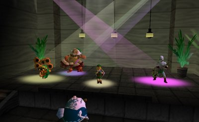 The Legend of Zelda Majora's Mask jam session Deku Goron Link Zora