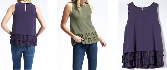 Banana Republic Pleated Hem Tank $25-$29 (reg $58)