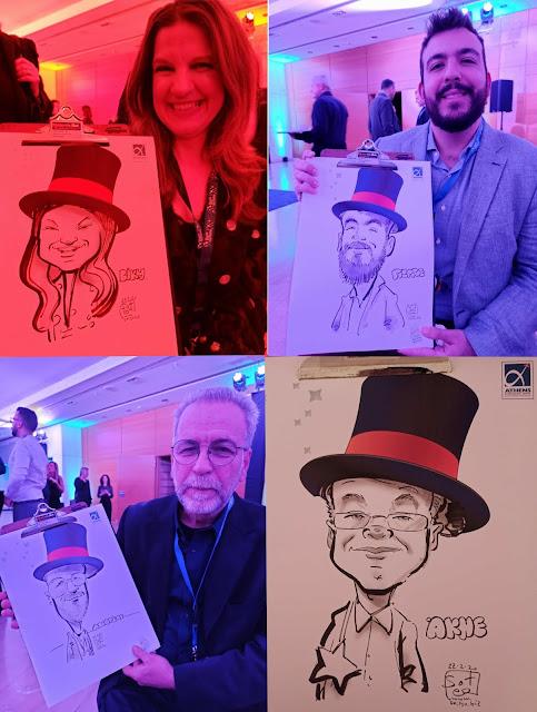 Εταιρικές εκδηλώσεις καρικατούρας corporate events airline marketing workshops live caricatures events .. εμείς δίνουμε ξεχωριστά βραβεία - Δώρα καρικατούρες!